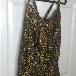African print jumpsuit in large